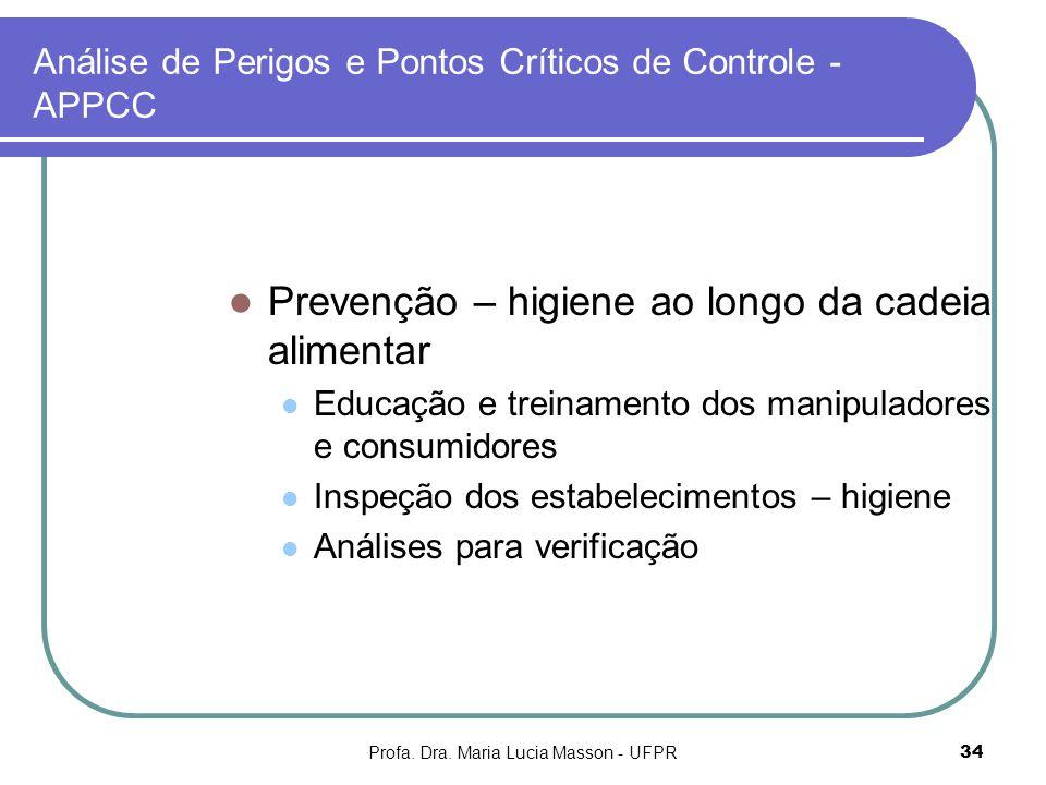 Análise de Perigos e Pontos Críticos de Controle - APPCC