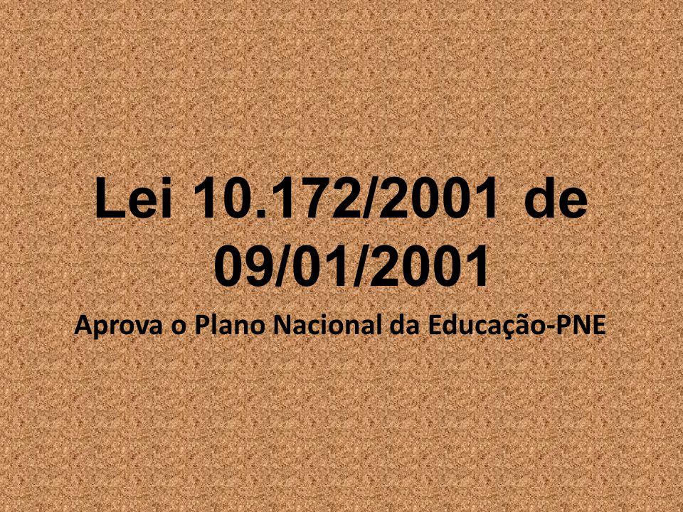 Aprova o Plano Nacional da Educação-PNE