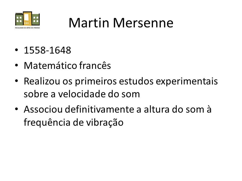 Martin Mersenne 1558-1648 Matemático francês