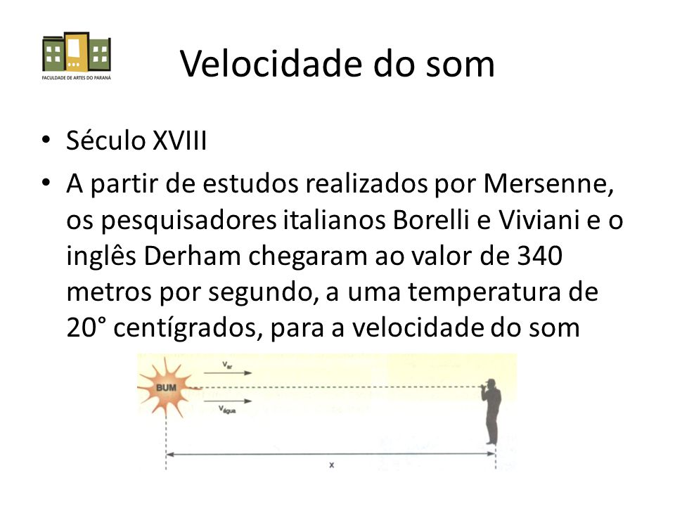 Velocidade do som Século XVIII