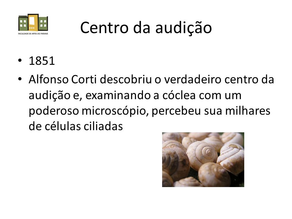 Centro da audição 1851.