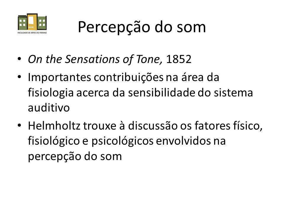 Percepção do som On the Sensations of Tone, 1852