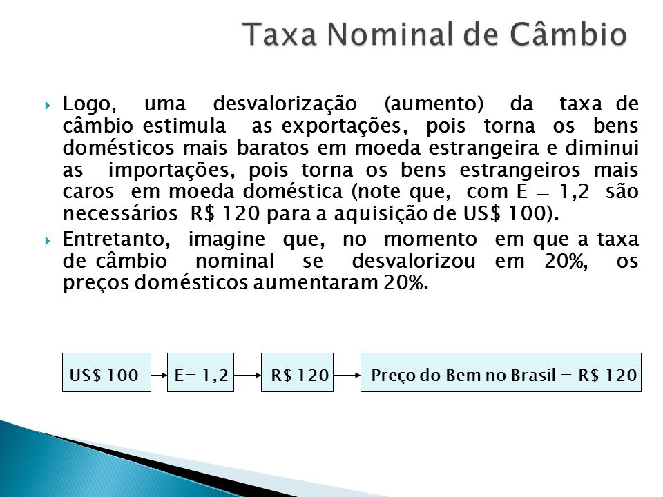 Taxa Nominal de Câmbio