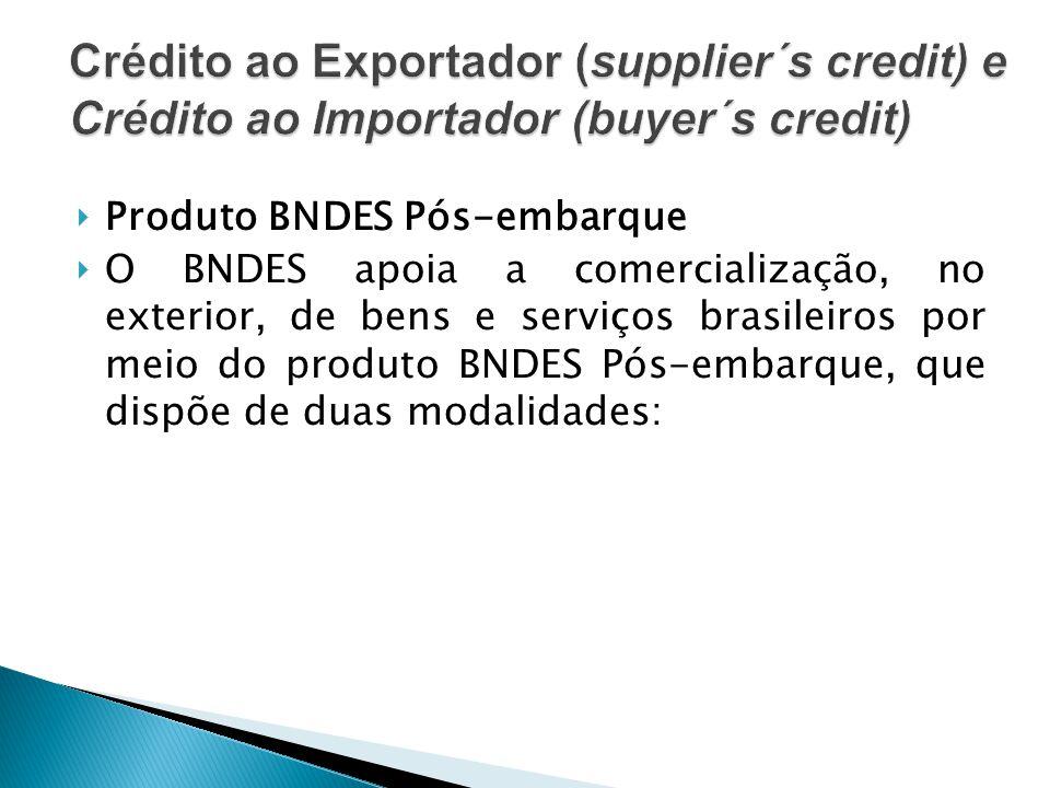 Crédito ao Exportador (supplier´s credit) e Crédito ao Importador (buyer´s credit)