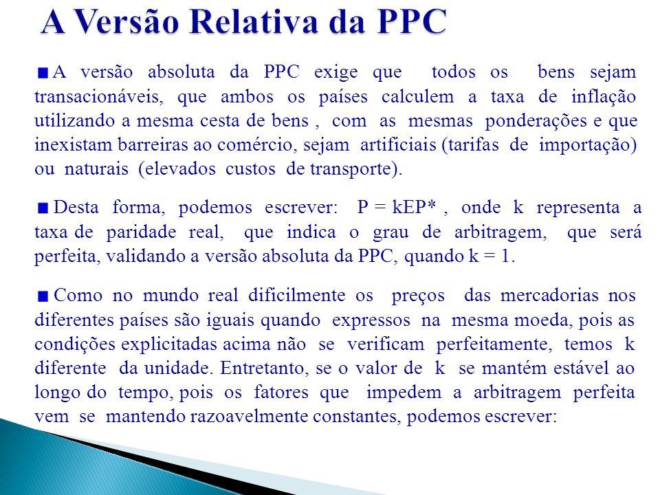 A Versão Relativa da PPC