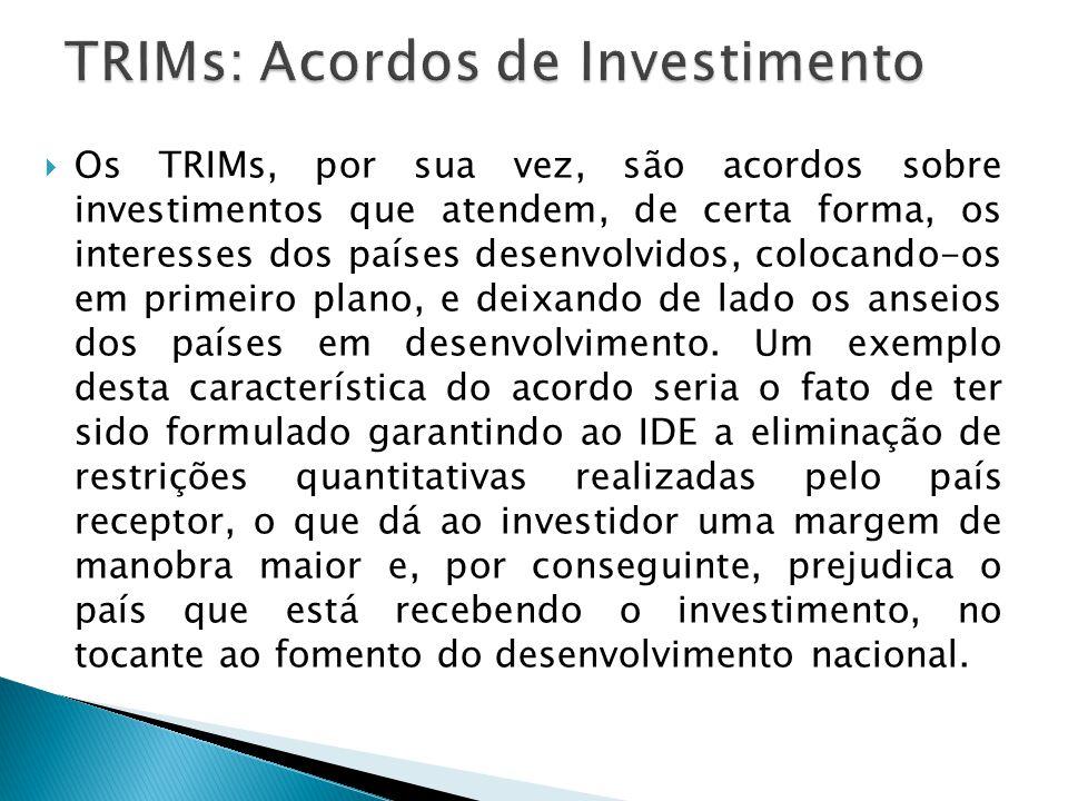 TRIMs: Acordos de Investimento