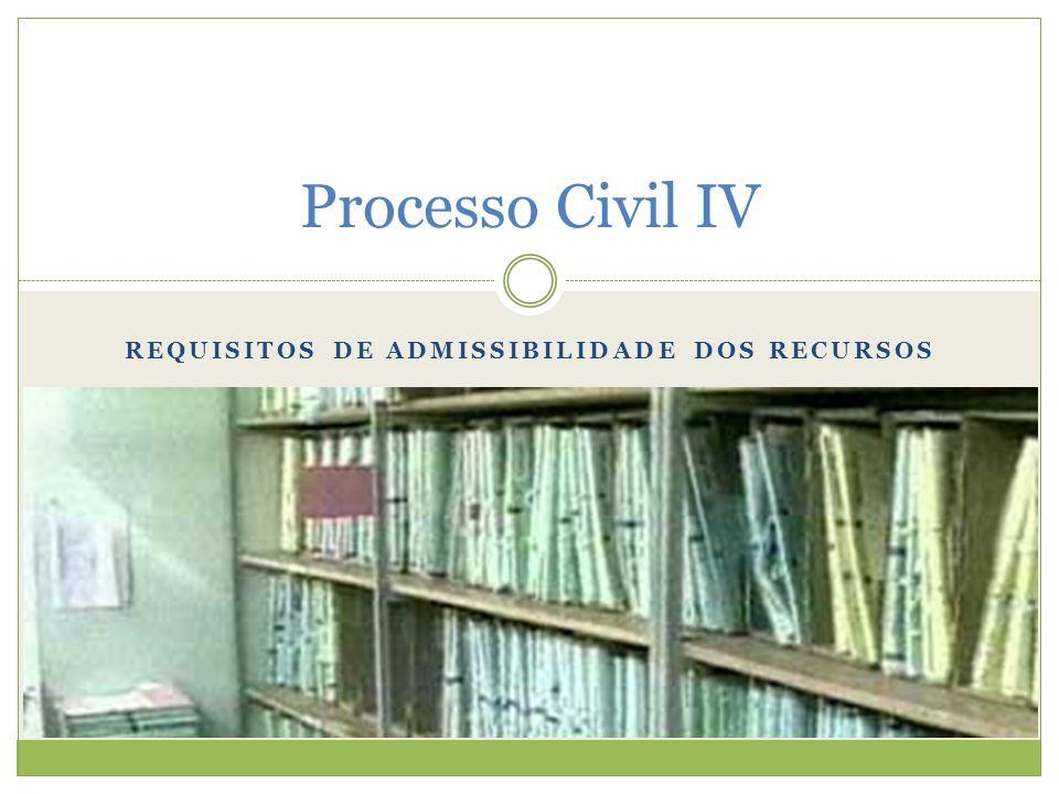 Requisitos de Admissibilidade dos Recursos