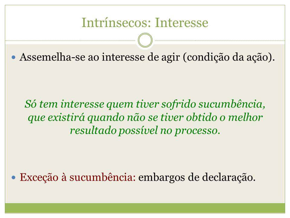 Intrínsecos: Interesse