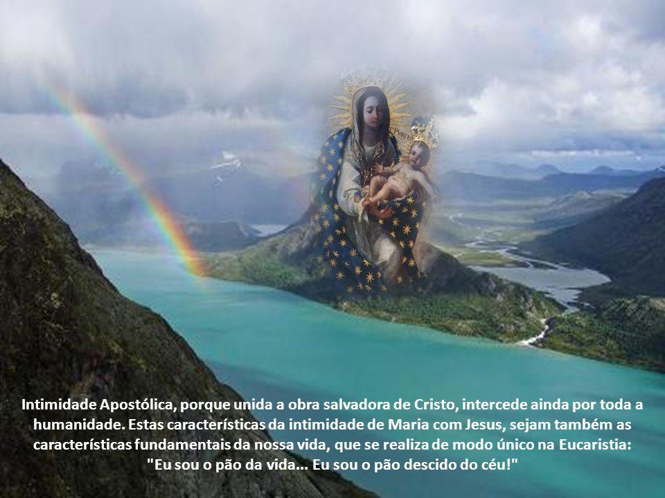 Intimidade Apostólica, porque unida a obra salvadora de Cristo, intercede ainda por toda a humanidade.