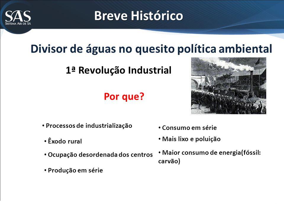 Divisor de águas no quesito política ambiental 1ª Revolução Industrial