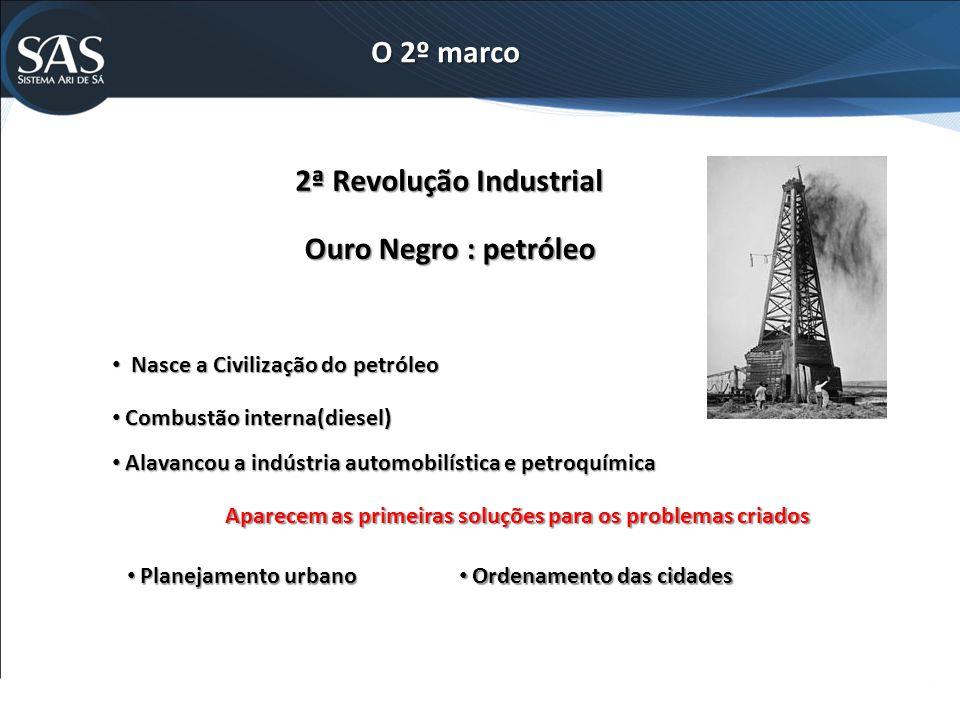 O 2º marco 2ª Revolução Industrial Ouro Negro : petróleo
