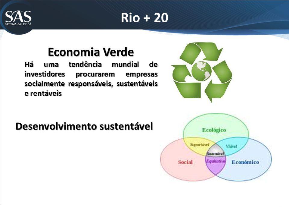 Rio + 20 Economia Verde Desenvolvimento sustentável