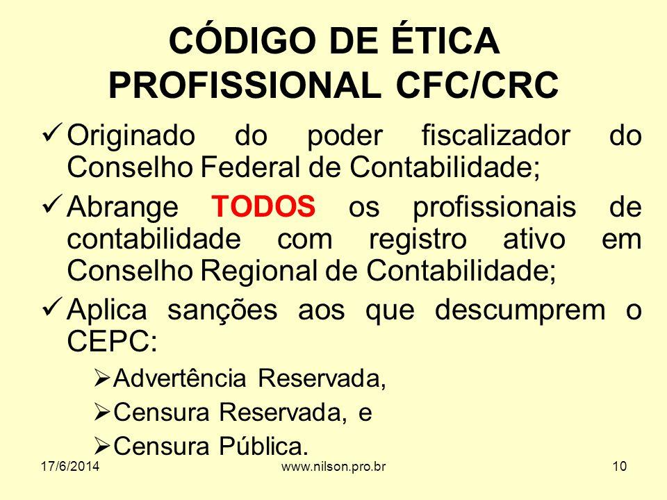 CÓDIGO DE ÉTICA PROFISSIONAL CFC/CRC