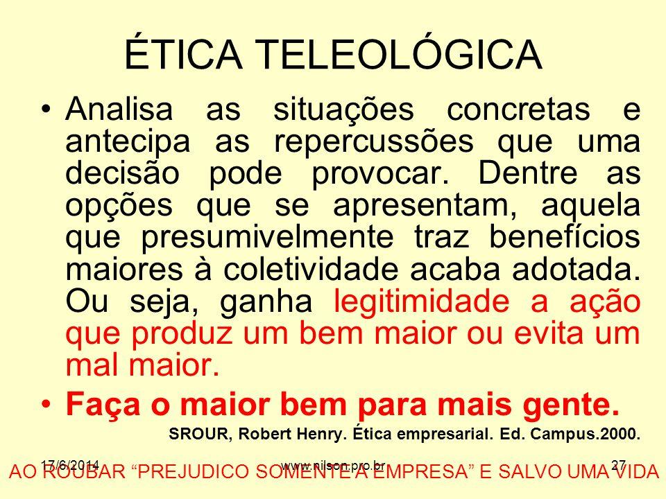 ÉTICA TELEOLÓGICA
