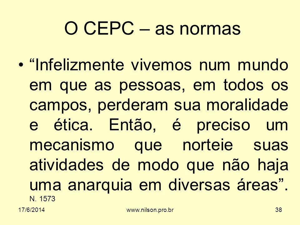 O CEPC – as normas