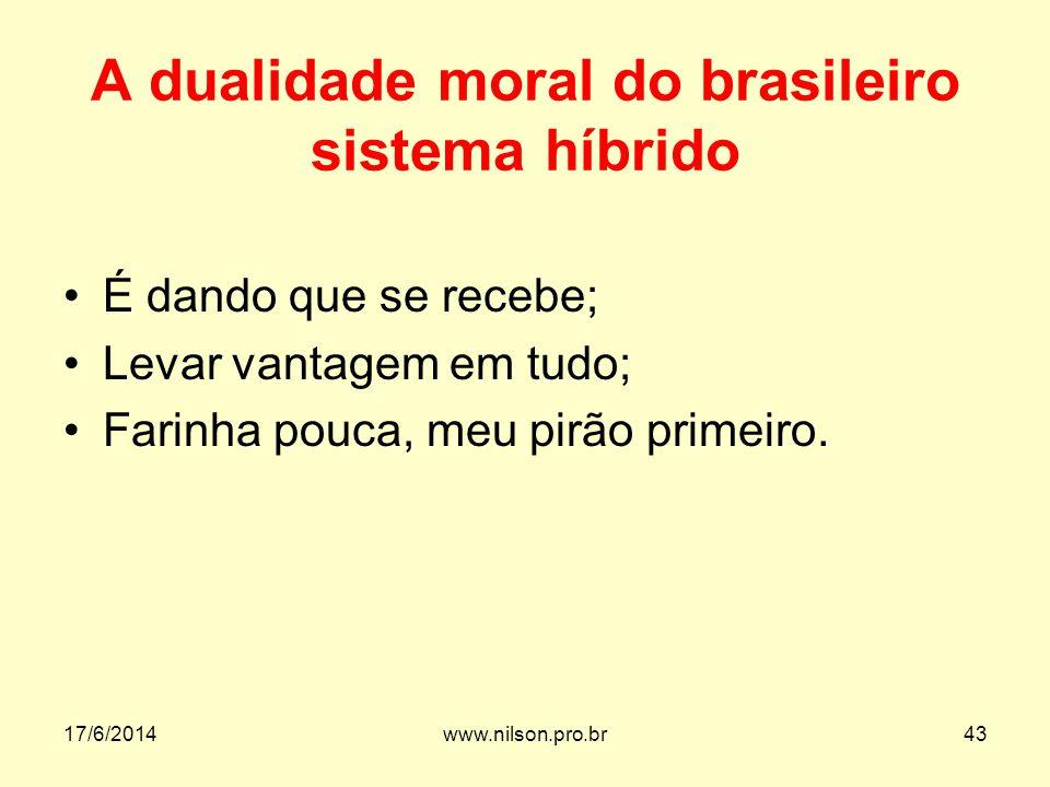 A dualidade moral do brasileiro sistema híbrido