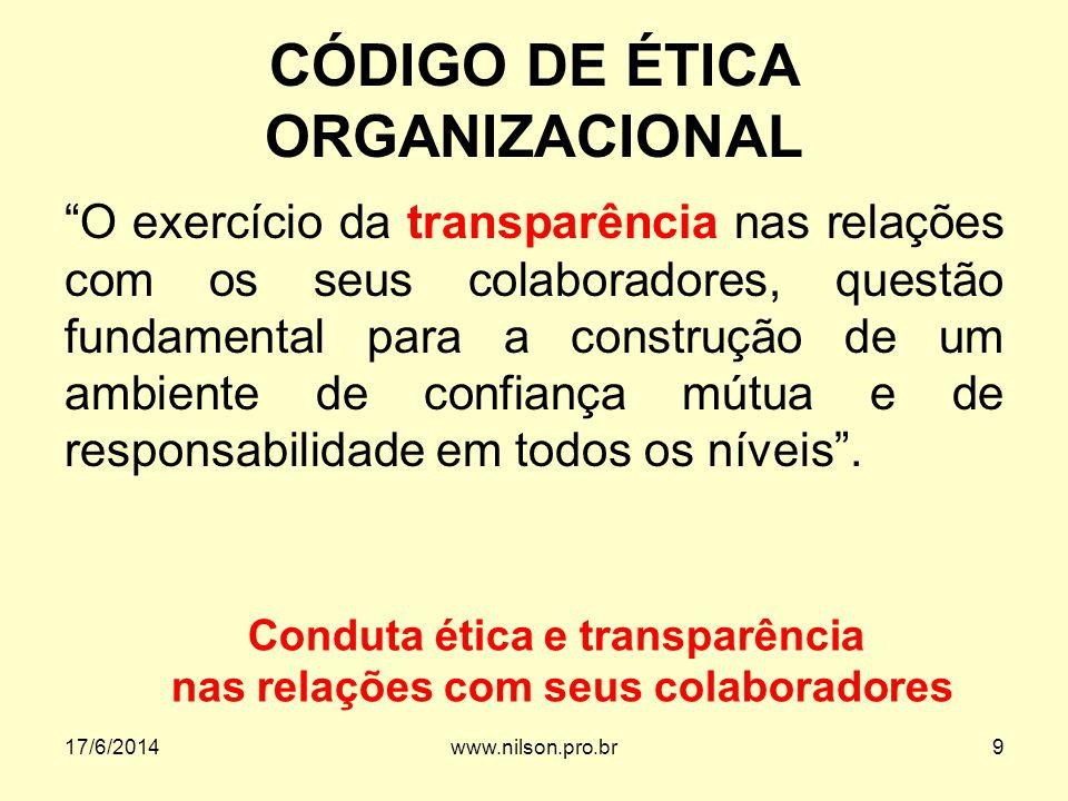 CÓDIGO DE ÉTICA ORGANIZACIONAL