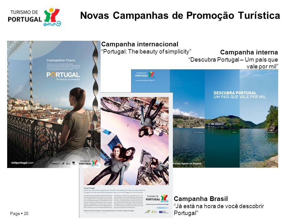 Novas Campanhas de Promoção Turística