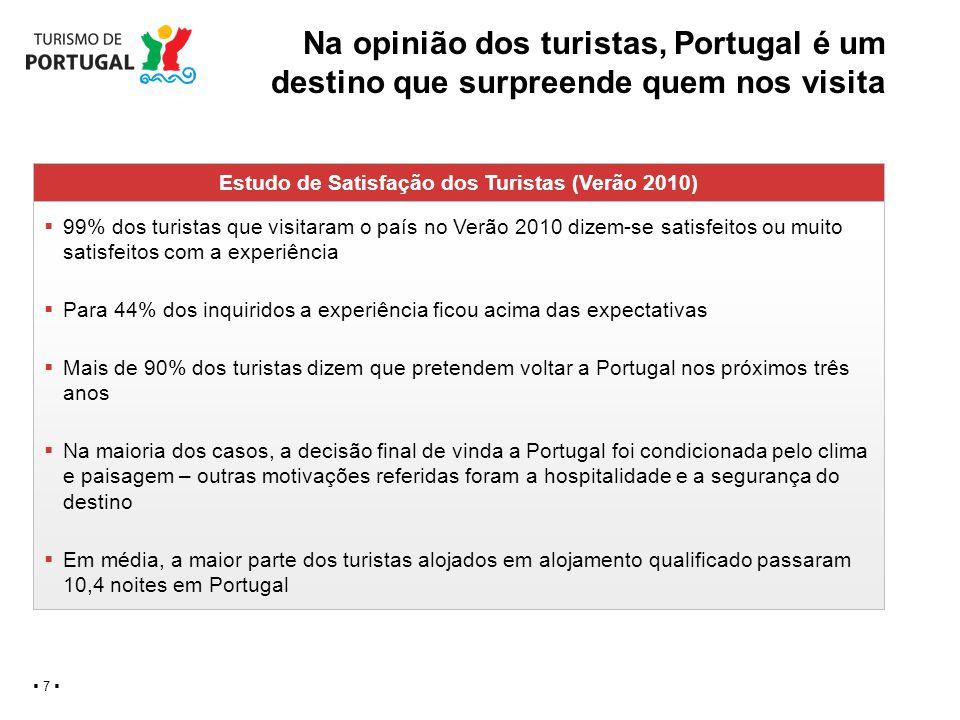 Estudo de Satisfação dos Turistas (Verão 2010)