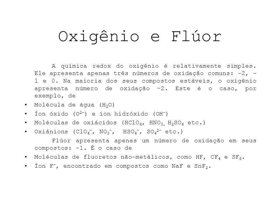 Oxigênio e Flúor