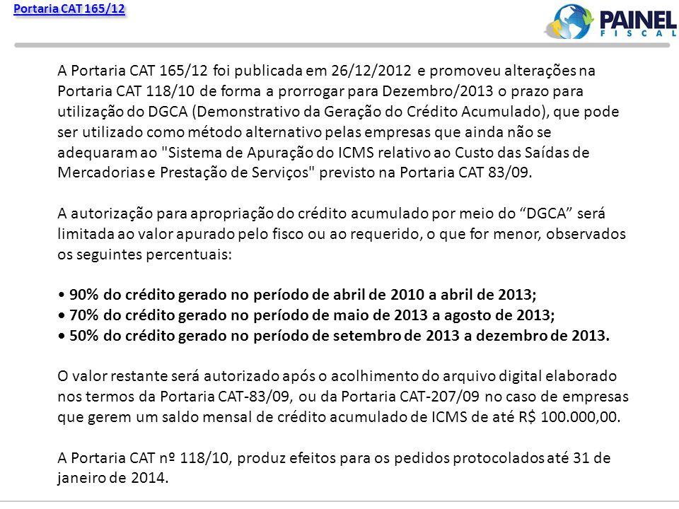 Portaria CAT 165/12