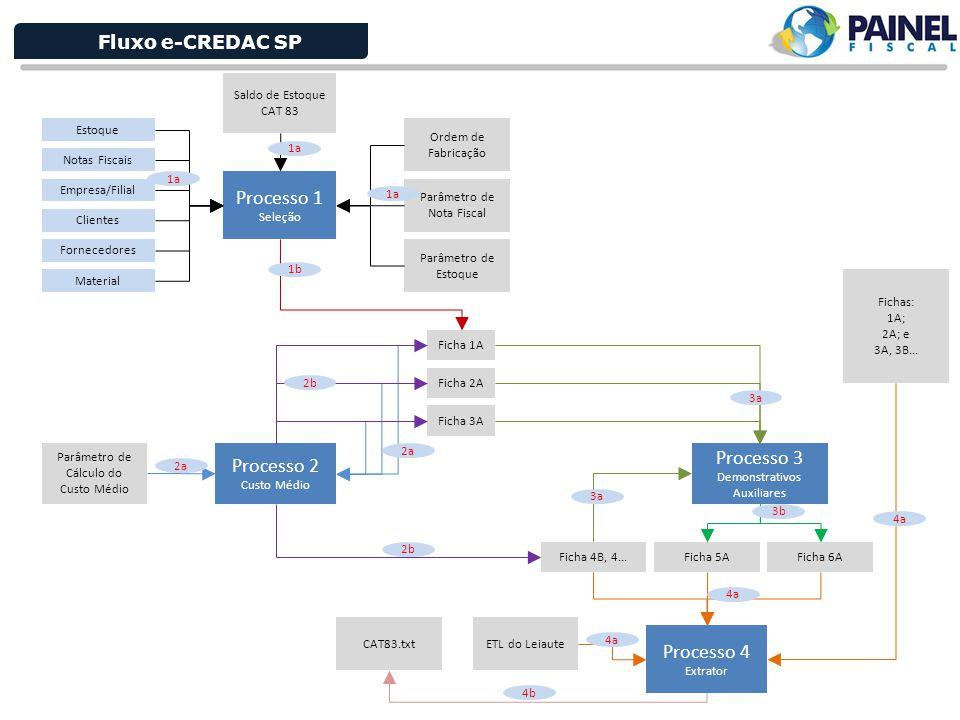 Processo 1 Processo 3 Processo 2 Processo 4 Fluxo e-CREDAC SP