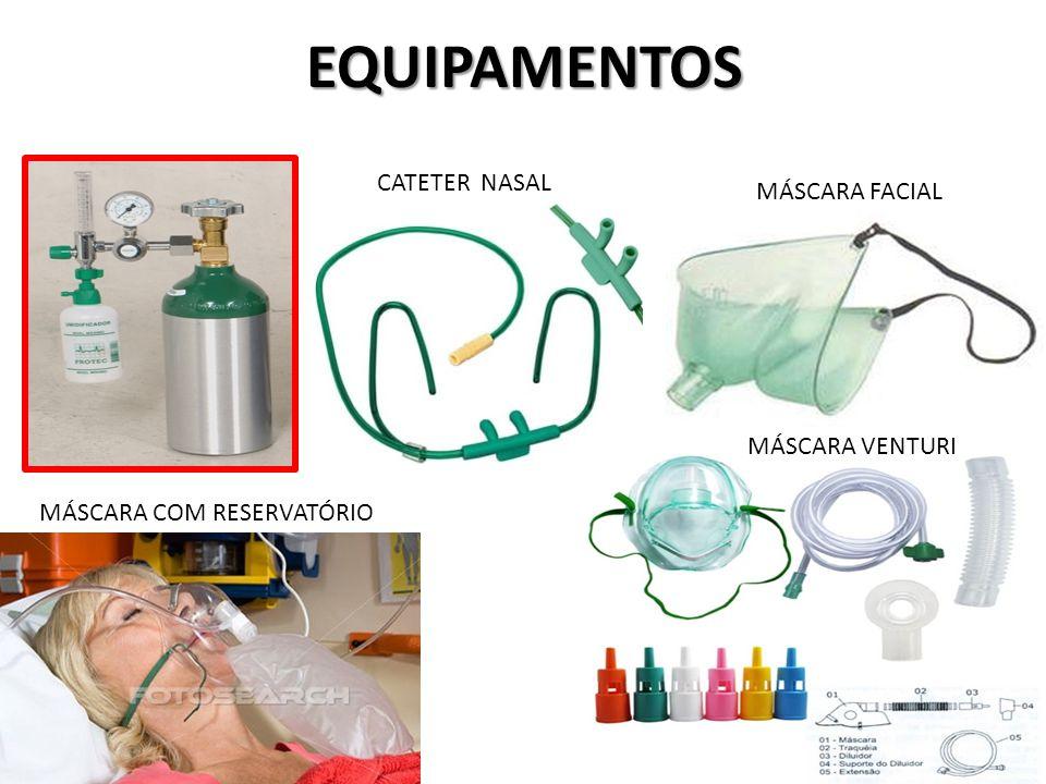 EQUIPAMENTOS CATETER NASAL MÁSCARA FACIAL MÁSCARA VENTURI