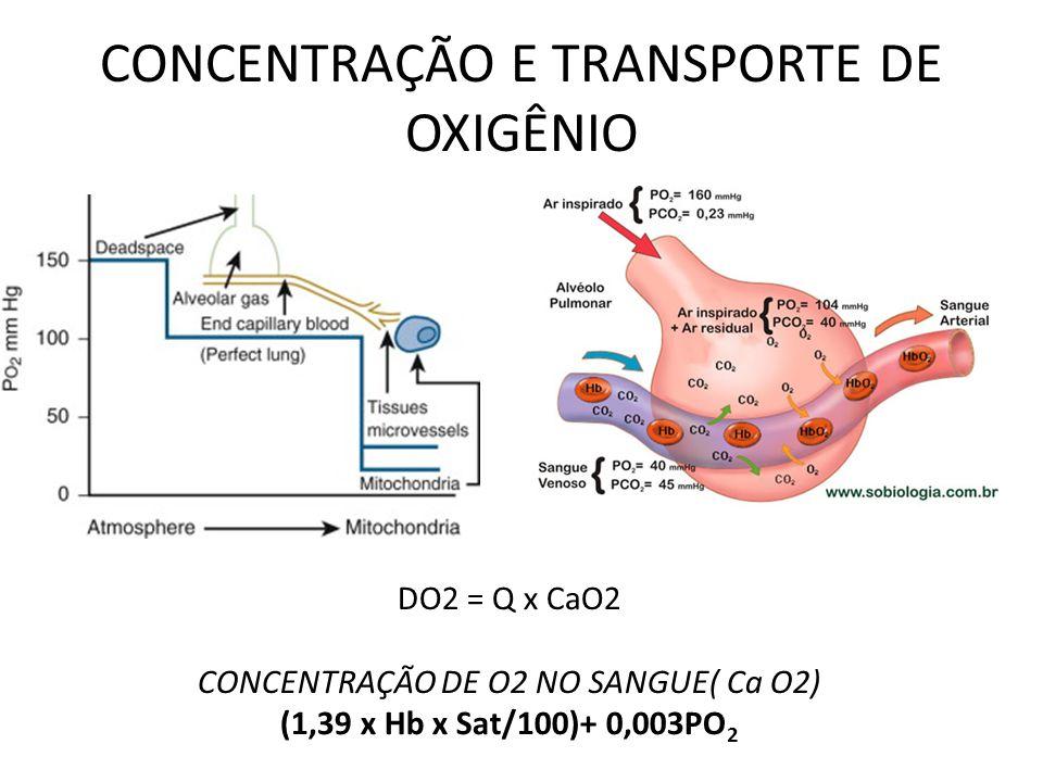 CONCENTRAÇÃO E TRANSPORTE DE OXIGÊNIO