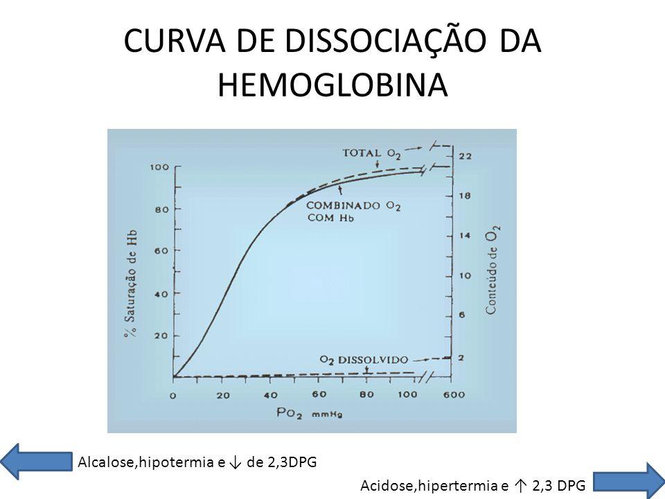 CURVA DE DISSOCIAÇÃO DA HEMOGLOBINA
