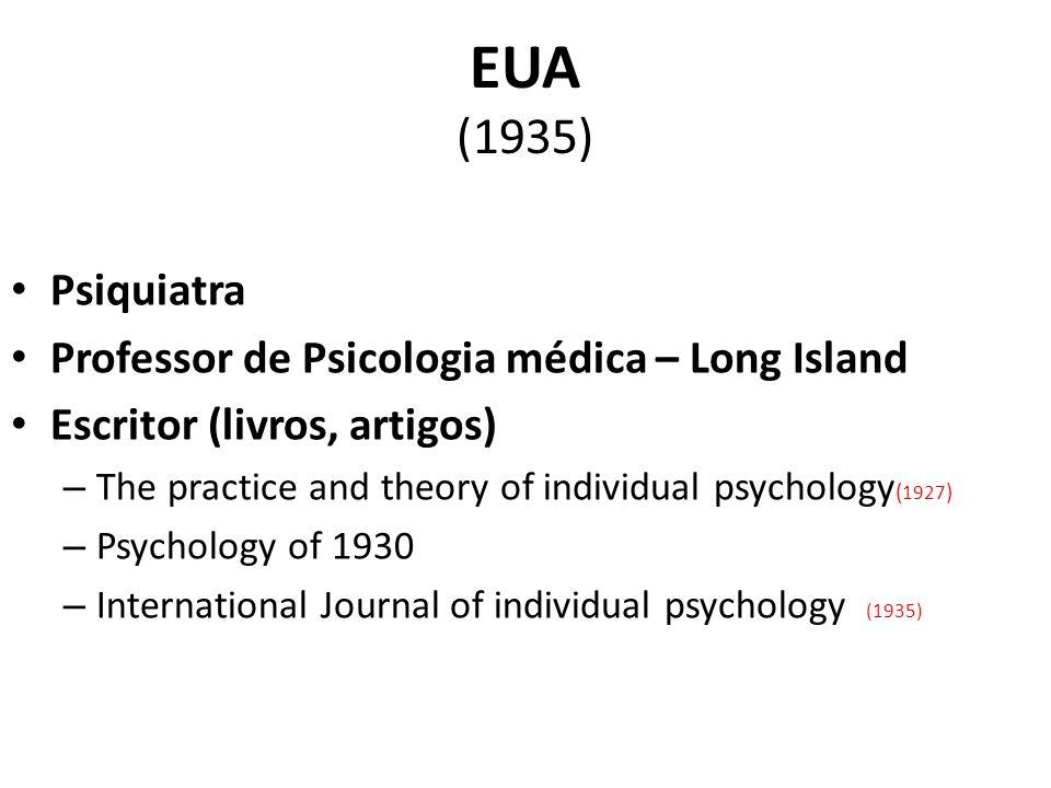 EUA (1935) Psiquiatra Professor de Psicologia médica – Long Island