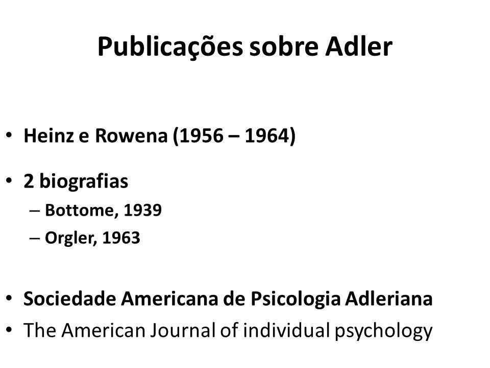 Publicações sobre Adler
