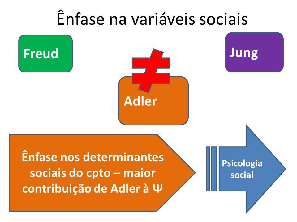 Ênfase na variáveis sociais