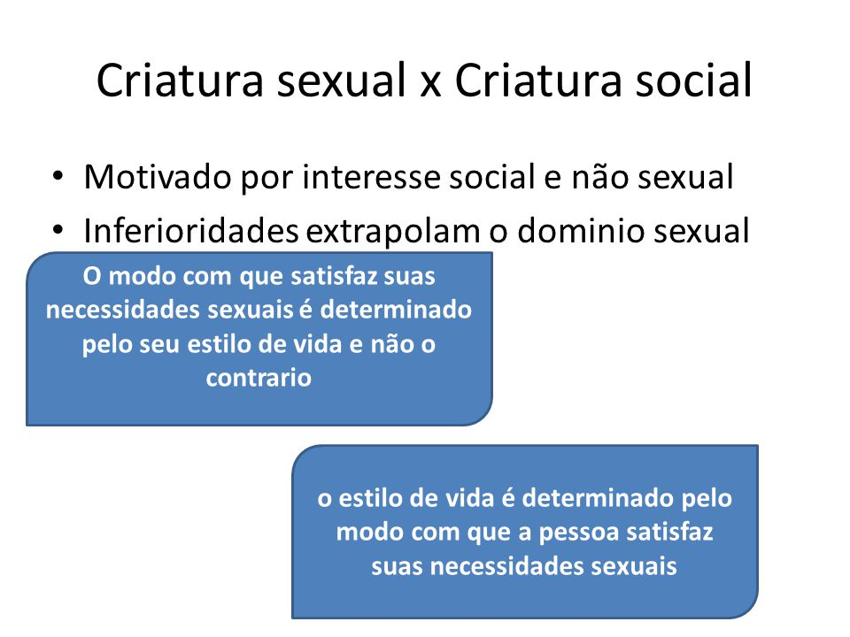 Criatura sexual x Criatura social