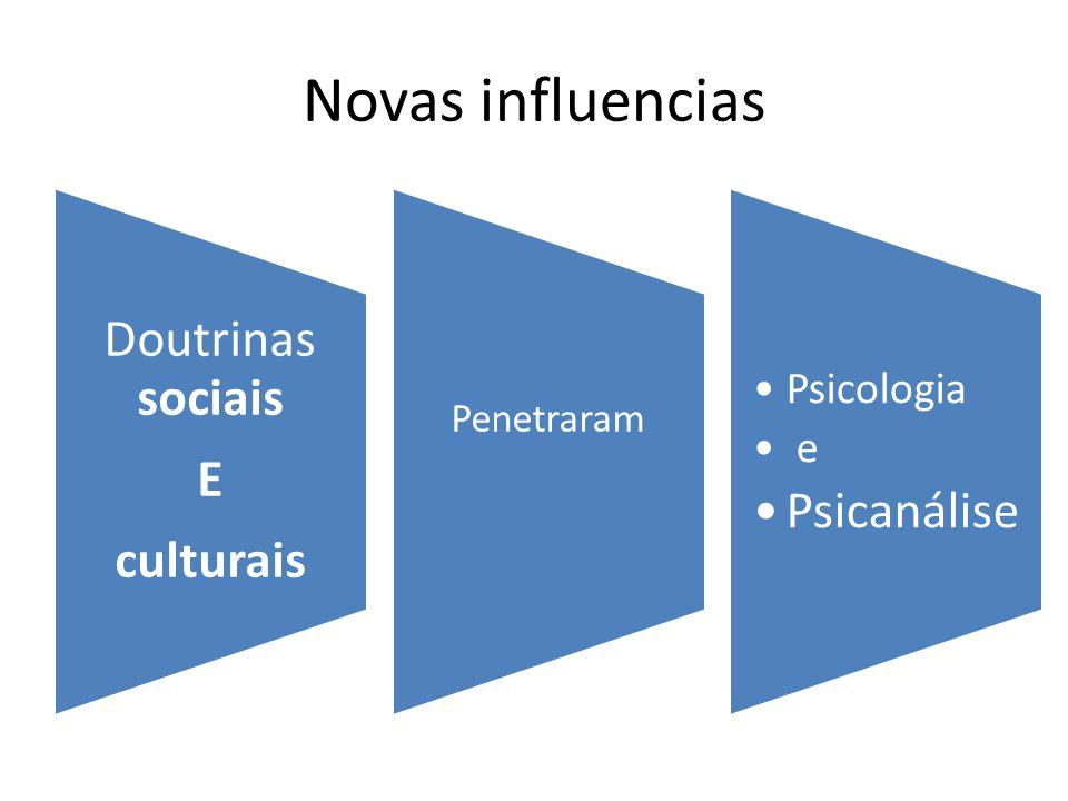 Novas influencias Psicanálise Doutrinas sociais E culturais Psicologia