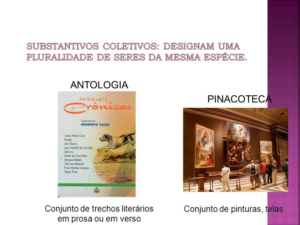 Conjunto de trechos literários em prosa ou em verso