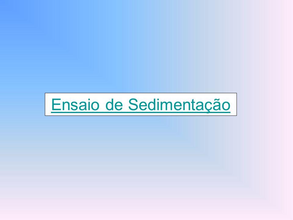 Ensaio de Sedimentação