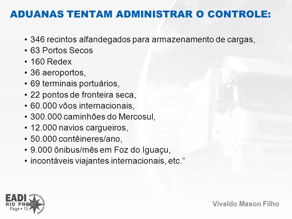ADUANAS TENTAM ADMINISTRAR O CONTROLE: