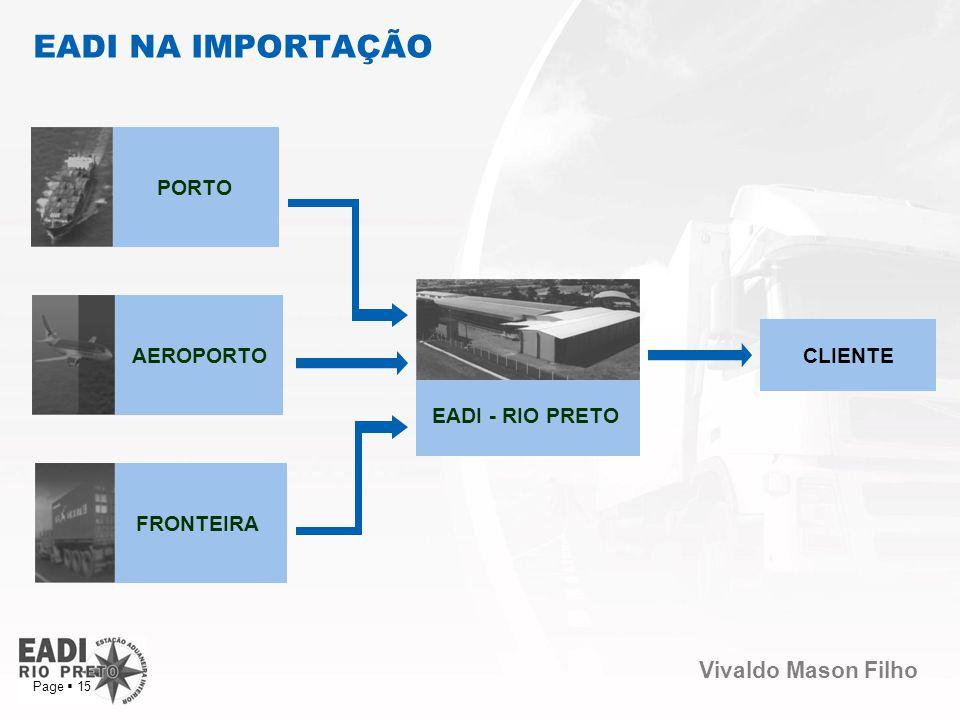 EADI NA IMPORTAÇÃO PORTO AEROPORTO CLIENTE EADI - RIO PRETO FRONTEIRA