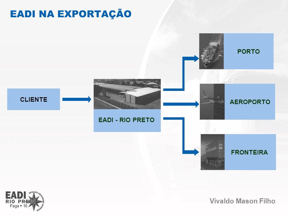 EADI NA EXPORTAÇÃO PORTO AEROPORTO CLIENTE EADI - RIO PRETO FRONTEIRA