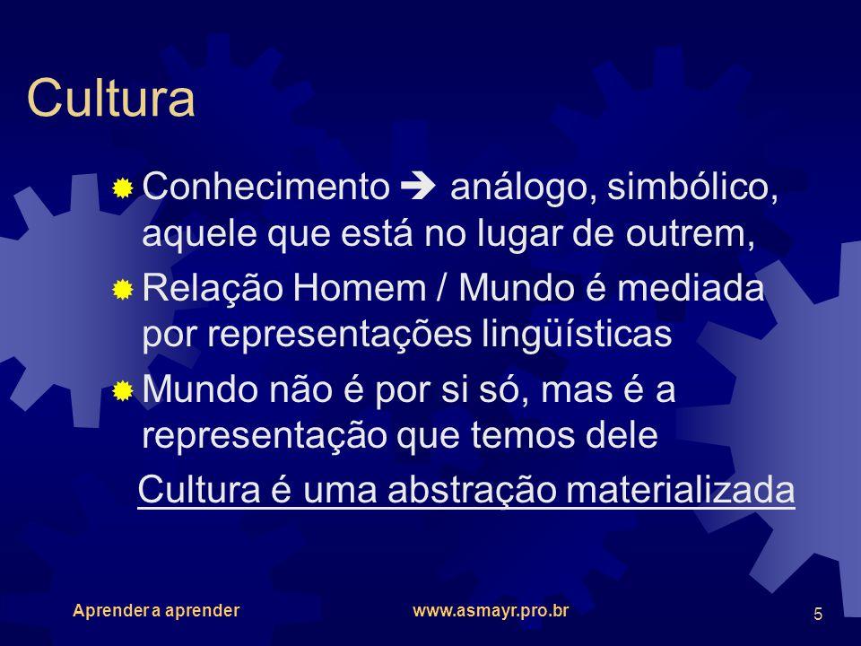 Cultura é uma abstração materializada
