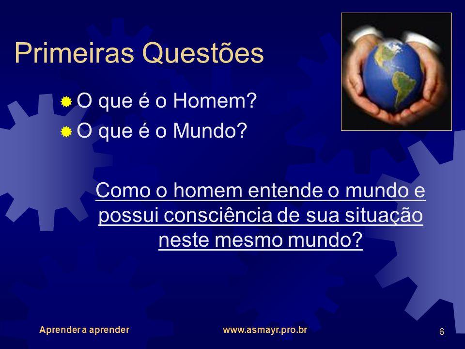 Primeiras Questões O que é o Homem O que é o Mundo