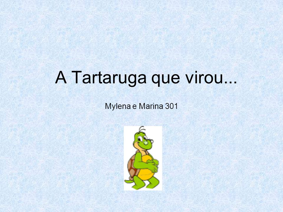 A Tartaruga que virou... Mylena e Marina 301