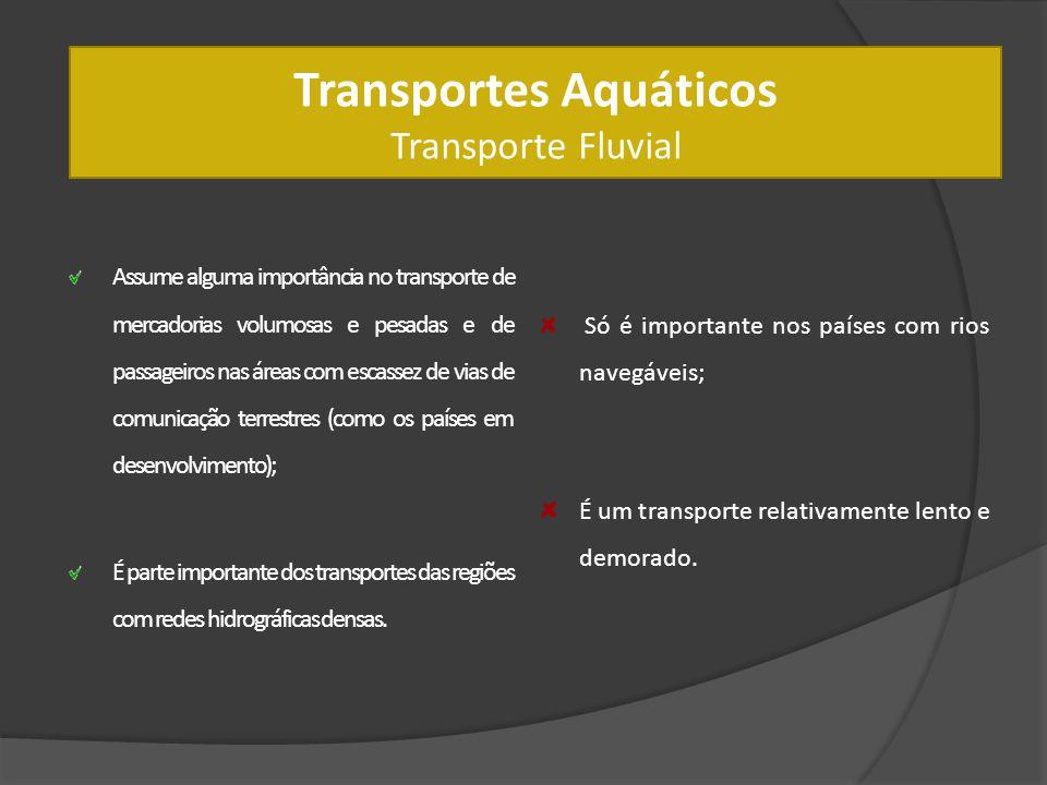 Transportes Aquáticos Transporte Fluvial