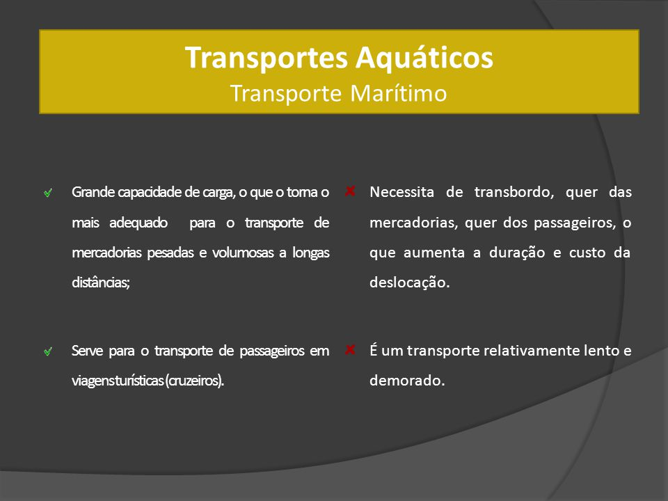 Transportes Aquáticos Transporte Marítimo