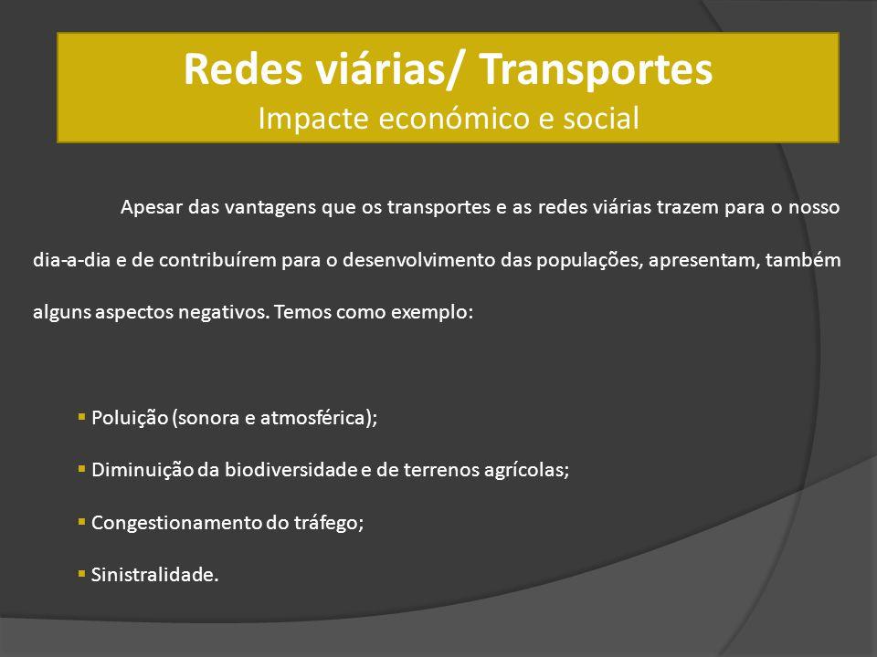 Redes viárias/ Transportes Impacte económico e social