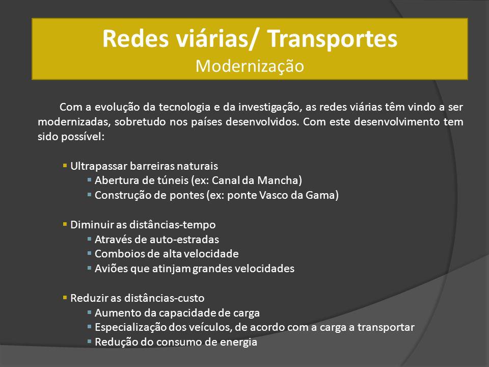 Redes viárias/ Transportes Modernização