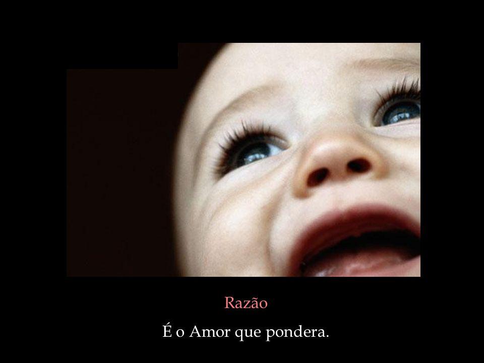 Razão É o Amor que pondera.