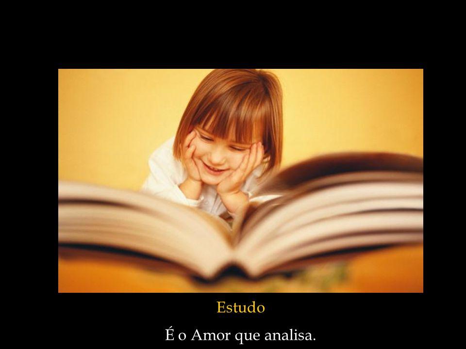 Estudo É o Amor que analisa.