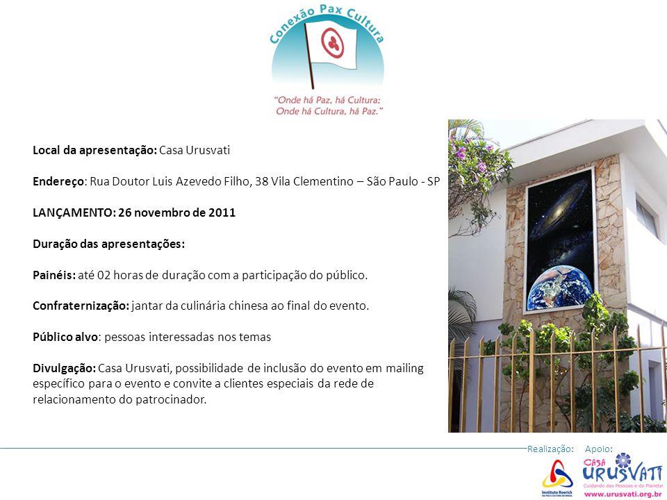 Local da apresentação: Casa Urusvati