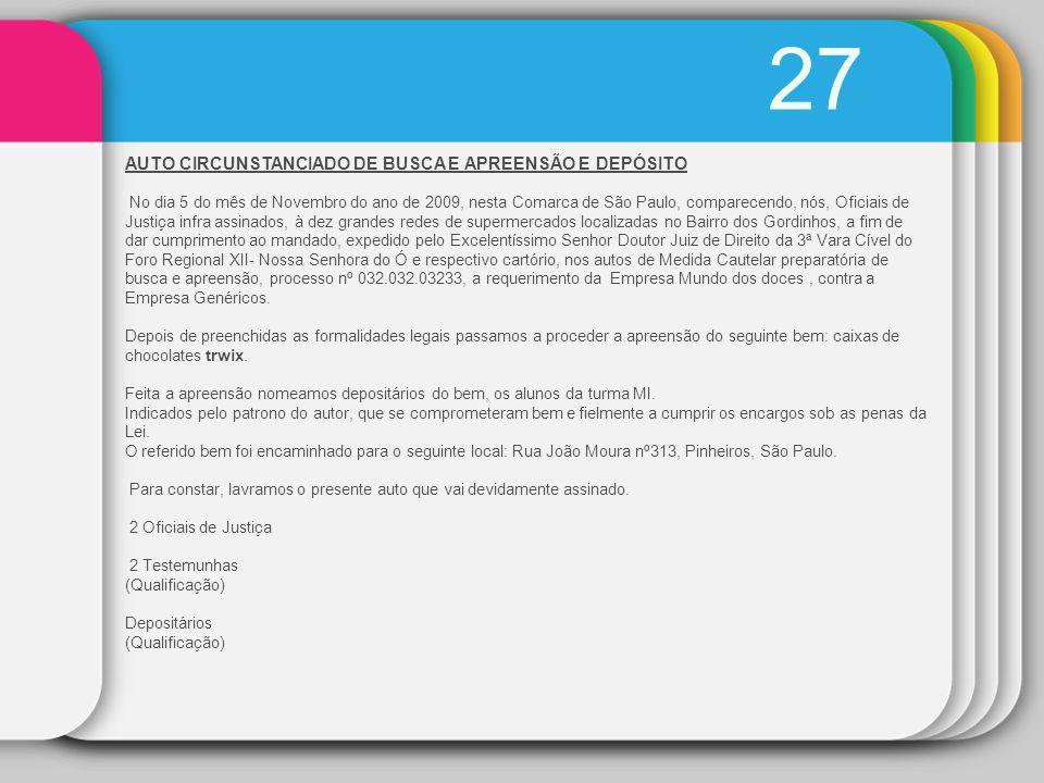 27 AUTO CIRCUNSTANCIADO DE BUSCA E APREENSÃO E DEPÓSITO